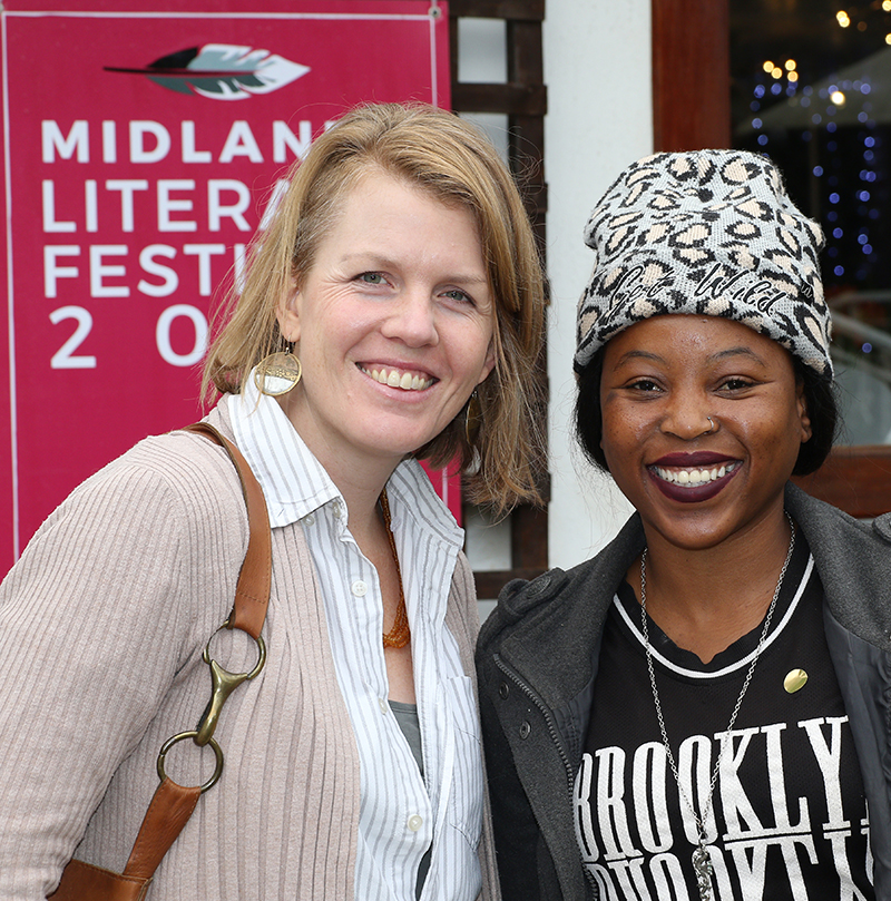 Khara-Jade Warren and Penz Malinga at Midlands Literary Festival